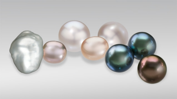 Cultured pearls come in different sizes, shapes, and colors.