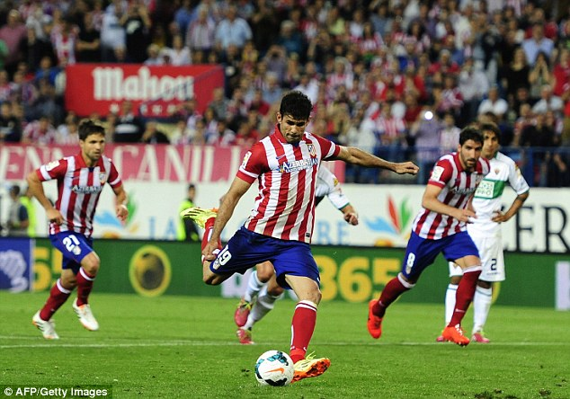 Atletico stay the course, Diego Costa scored again.