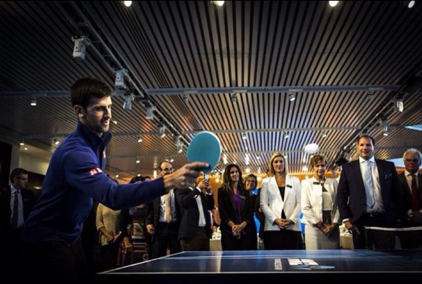 Novak could be the tennis Sonny Bill Williams, playing ping pong and tennis