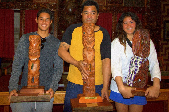 Kehu Butler on the left, Zhana Hutchieson on the right via Col/Surf2Surf/Surfing NZ