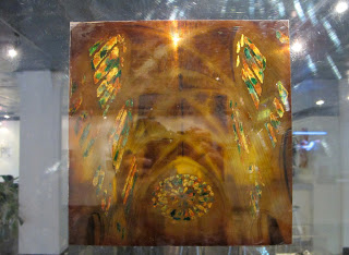 Glass Light, Leon,  lacquer on transparent film, 30x30cm