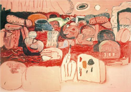 Philip Guston, Deluge II, 1975  Photo source: http://www.wikipaintings.org/en/philip-guston/deluge