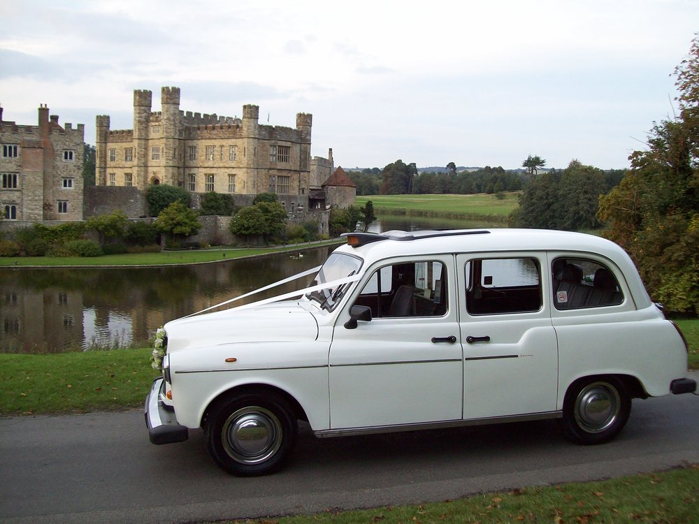 White London Fairway Wedding Taxi