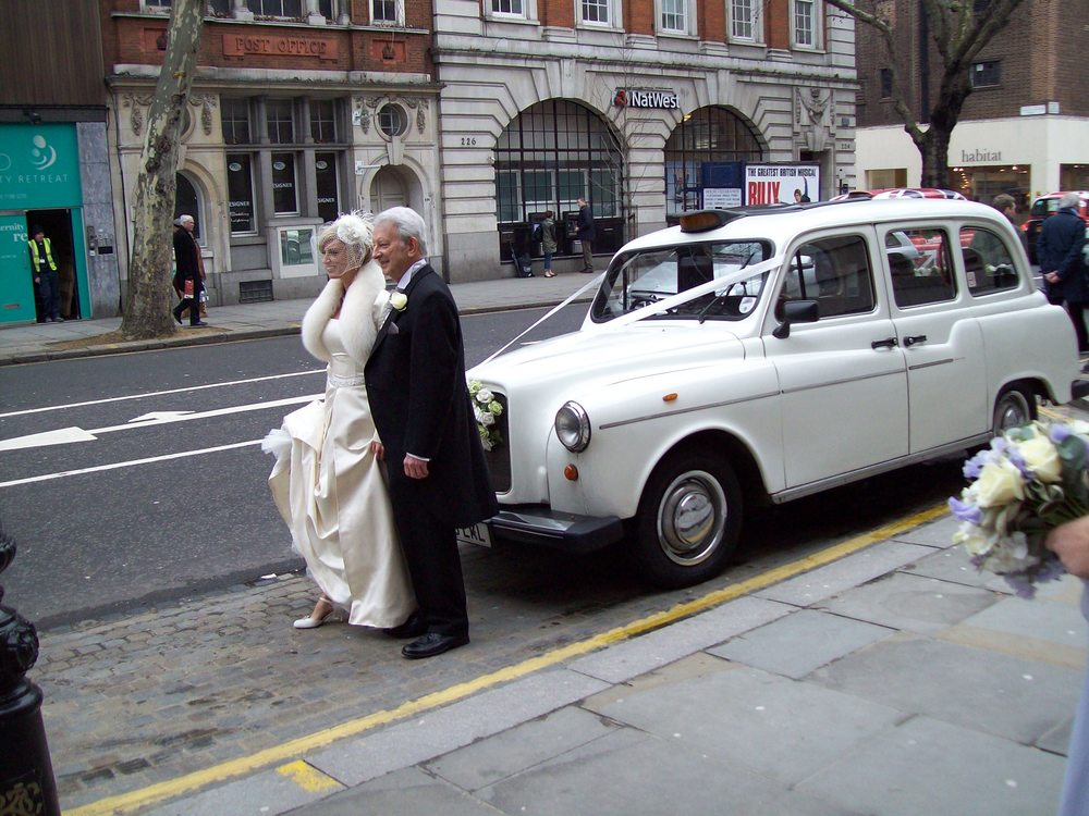 White Taxi Wedding