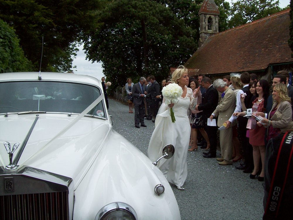 Don't tell the bride! Surprise white Rolls Royce Silver Cloud wedding car Ramsgate, Kent.