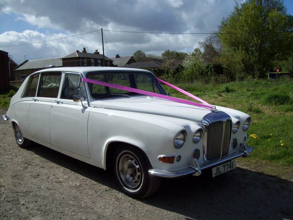 White Daimler Limousine Kent