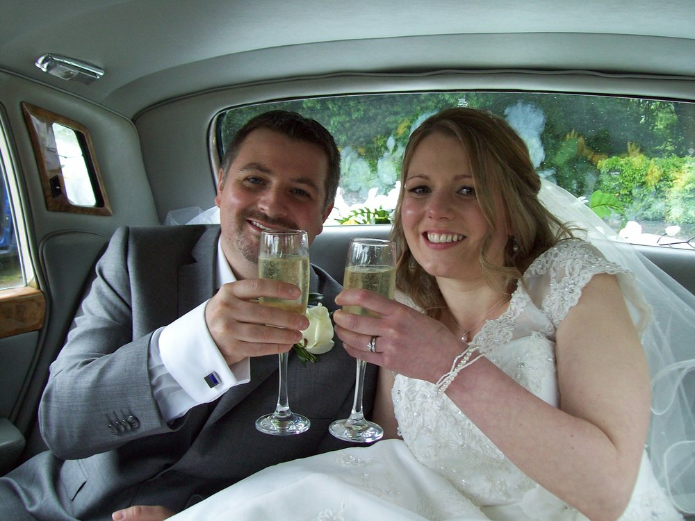 Stephen and Rowena wedding in Sevenoaks with our Rolls Royce Silver Shadow.