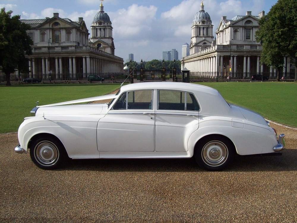 White Rolls Royce Silver Cloud  —> Most Popular