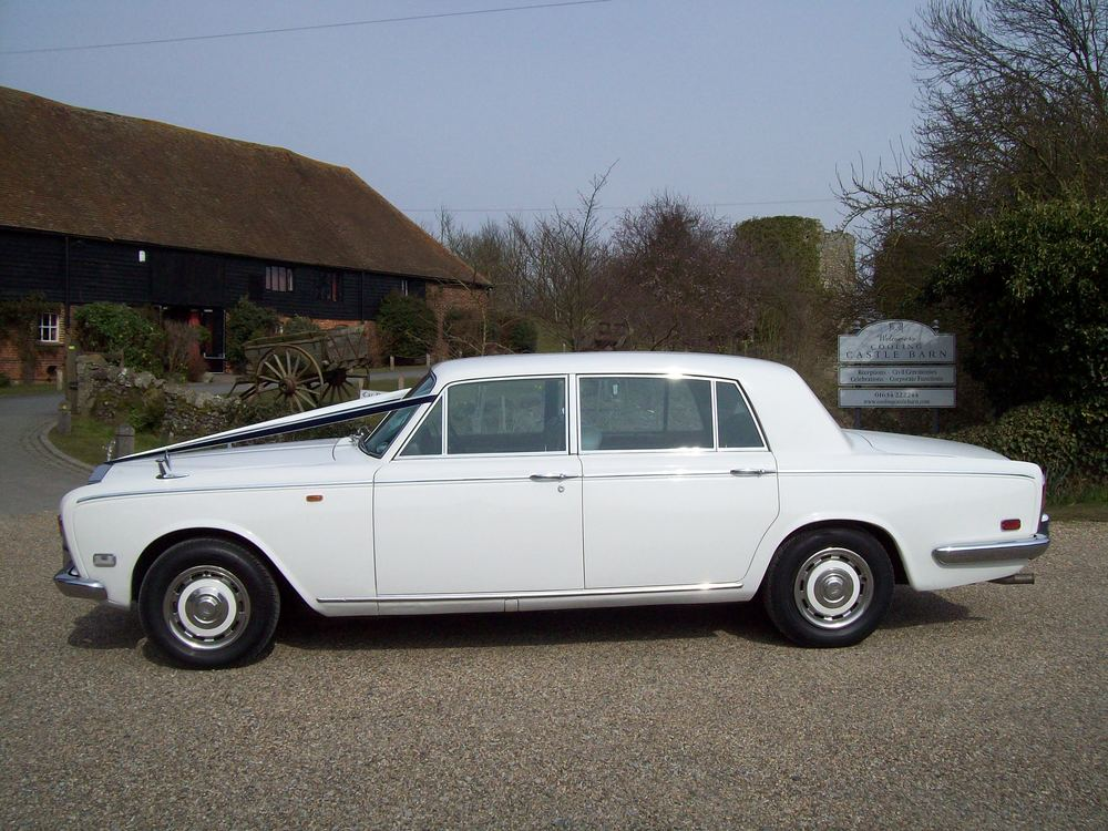 White Rolls Royce Silver Shadow Lwb