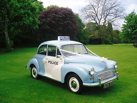 Police Wedding Car