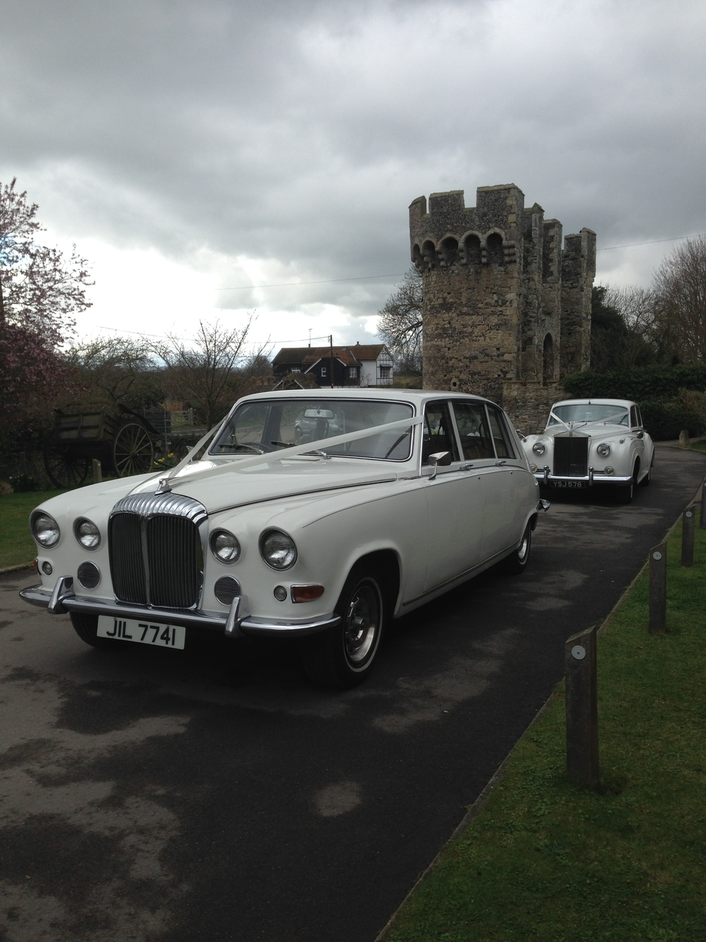 Classic White Daimler DS Limousine