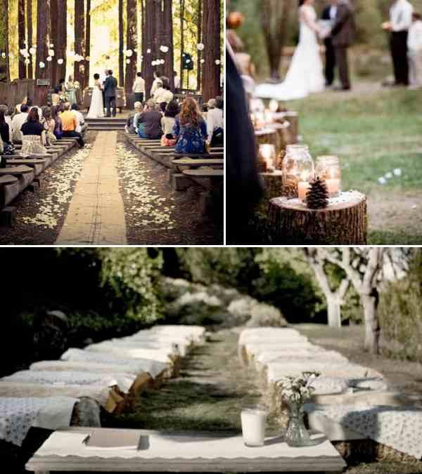Simple Outdoor Wedding Ideas: Simple Rustic Wedding Inspiration