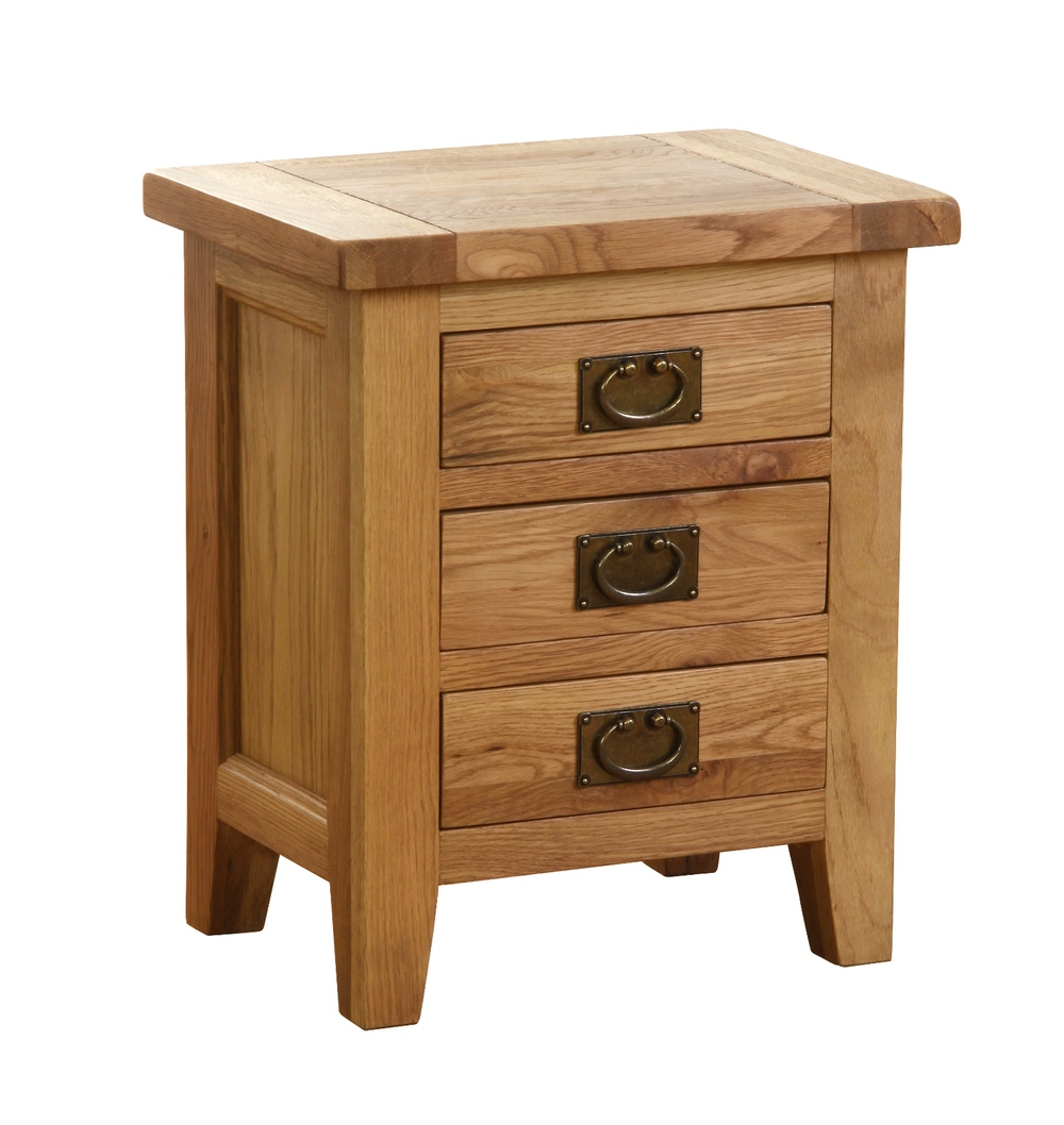 3 DRAWER BEDSIDE TABLE  w 50 x d 35 x h 58.5 cm  € 250  Product Code: NB022
