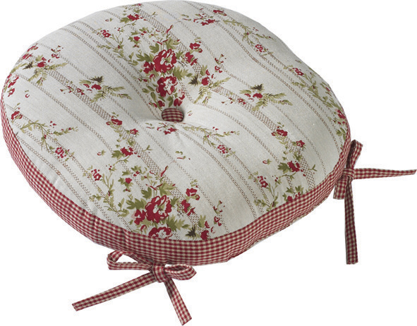 Rose Cottage Round Seat Pad and Ties    38cm Diameter     €20.00   Product Code: WAL-RCRSP