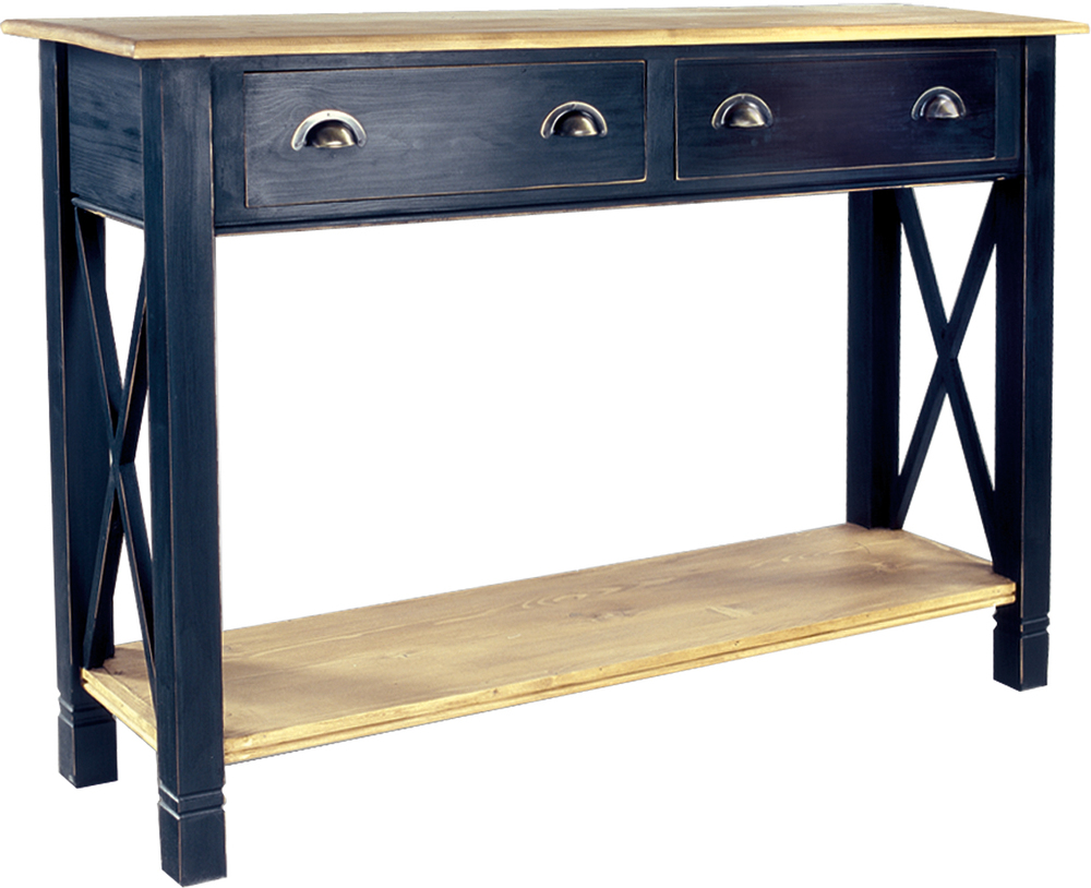 HERITAGE BASIC LINE, 2 DRAWER SIDE TABLE  w 135 x d 40 x h 95 cm  € 503 ( NOW € 352.10 - FOR LIMITED TIME ONLY!  )  Product Code: BL-3193  COLOUR OPTIONS: This piece may be ordered in any of the Heritage colours and finishes.