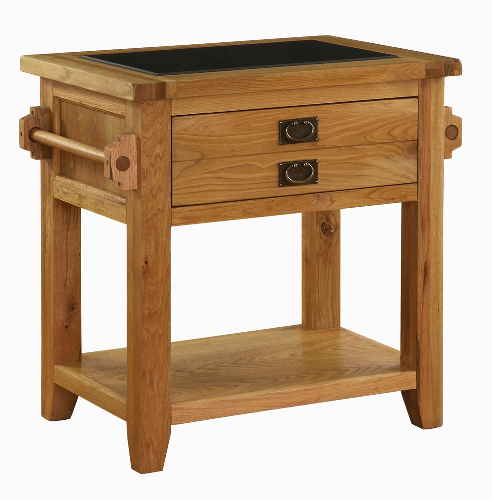 OAK COLLECTION SMALL GRANITE TOP KITCHEN ISLAND UNIT w 82 x d 58 x h 86 cm € 699 Product Code: VXD013