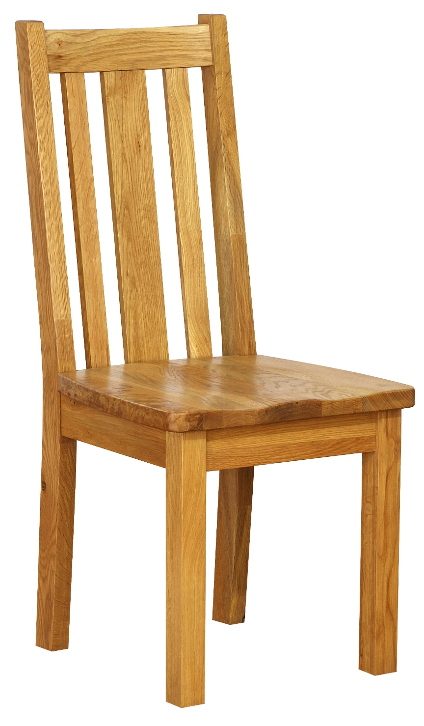 OAK COLLECTION DINING CHAIR WITH VERTICAL SLATS  w 43 x d 47 x h 54.5 cm  € 176  Product Code: NB044