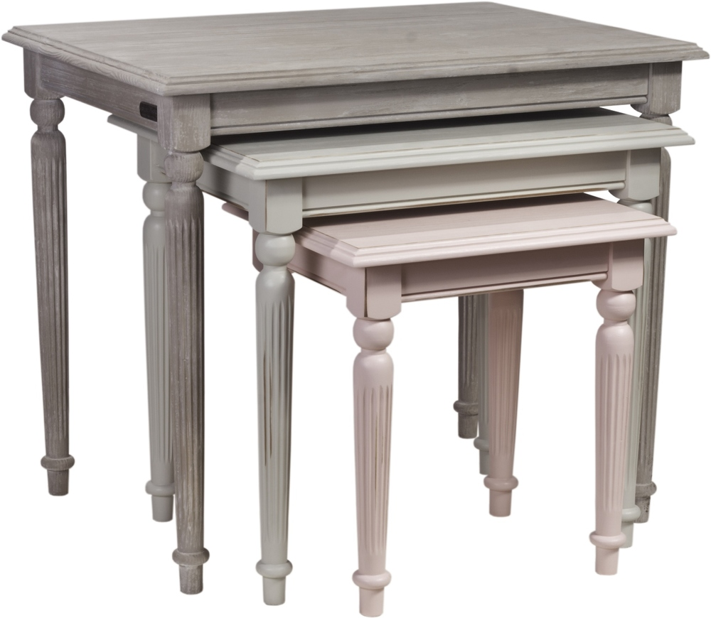 HERITAGE NOTTINGHAM COLLECTION NEST OF TABLES Large: w 74 x d 54 x h 63 cm, Medium: w 59 x d 45 x h 54 cm, Small: w 43 x d 36 x h 45 cm  € 398 ( 30% Off to Order - 40% Off in stock )  Product Code: NC-9012.