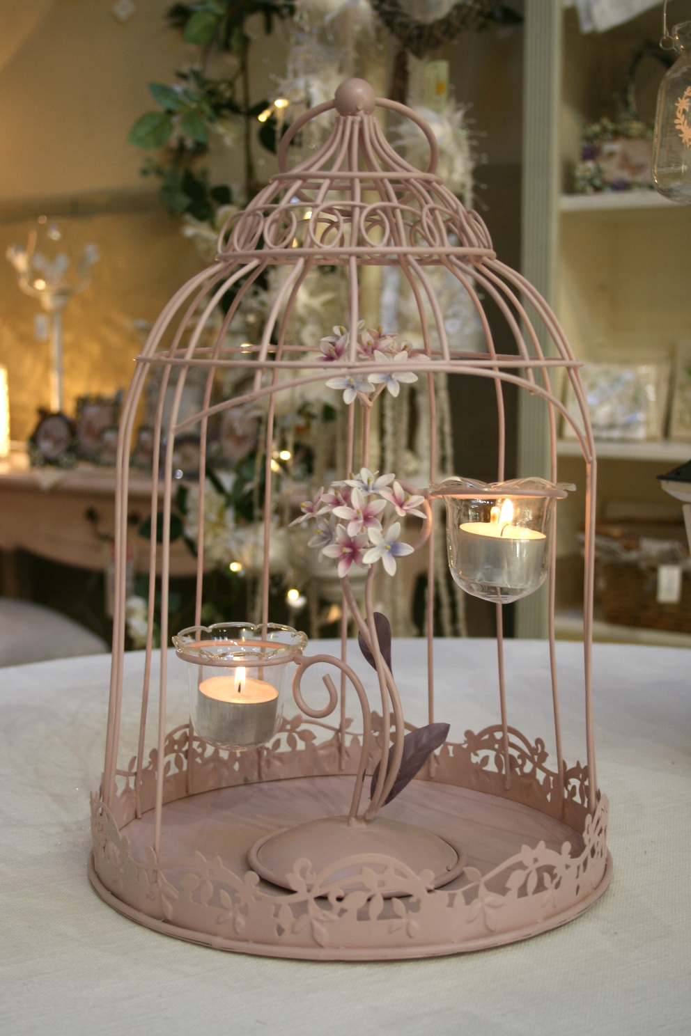 Pink Birdcage Tea Light Holder €47.00