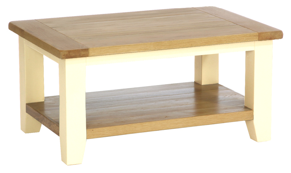 Rectangular Coffee Table Colour-Ivory  w 91.5 x d 61 x h 50 cm € 352 ( 40% Off - NOW € 211.20 ) Product Code: CANB008