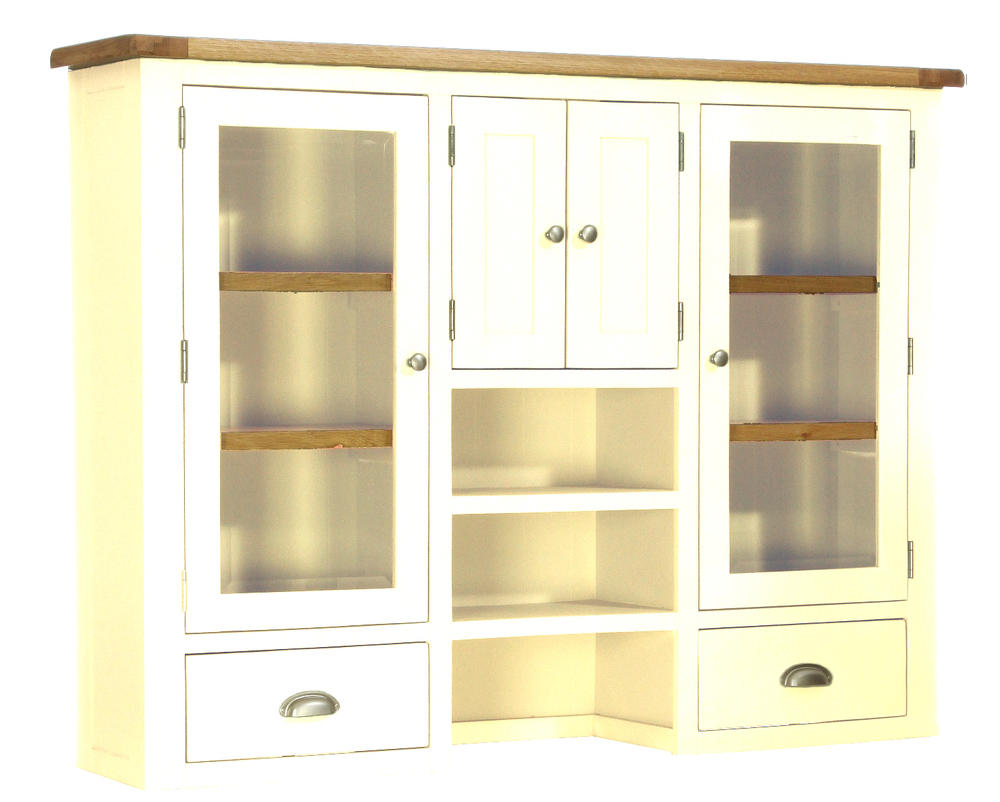 Glazed Dresser Base with 4 Drawers and 2 Doors Colour-Ivory w 160  x d 35 x h 120 cm € 885 Product Code: CANB123H