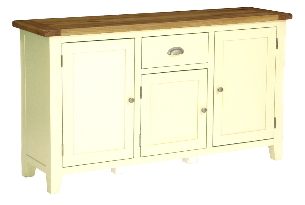 3 Door, 1 Drawer Sideboard/ Dresser Base Colour-Ivory w 160 x d 45 x h 90 cm €675 Product Code: CANB123B
