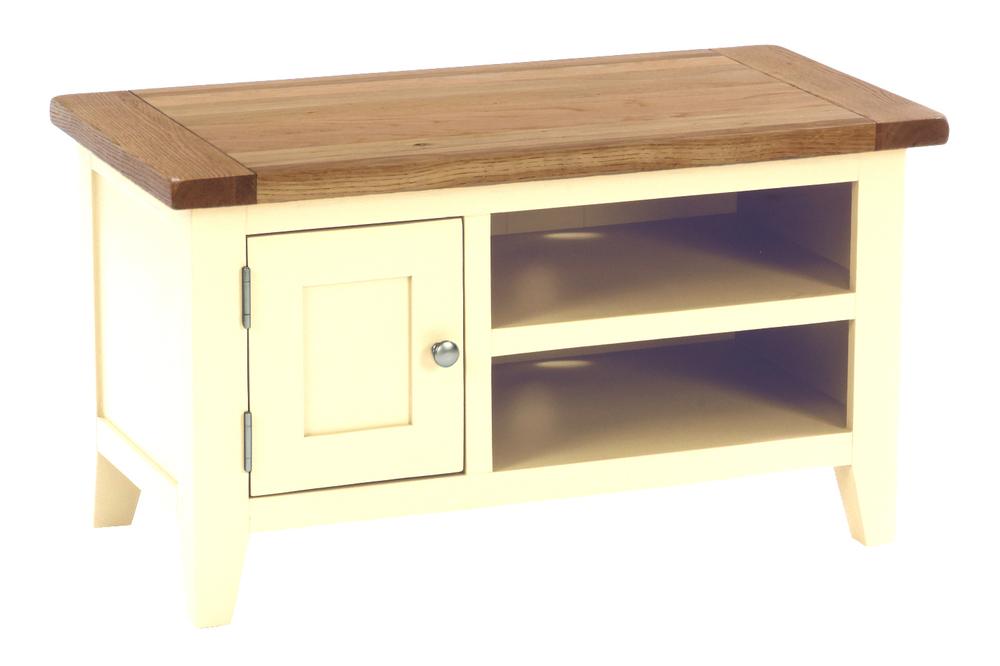 1 Door 1 Shelf Small TV Unit Colour-Ivory w 90 x d 45 x h50 cm € 295 Product Code: CANB014