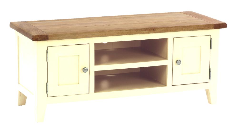 2 Door, 1 Shelf TV Unit Colour: Ivory w 120 x d 45 x h 50 cm € 385 Product Code: CANB013