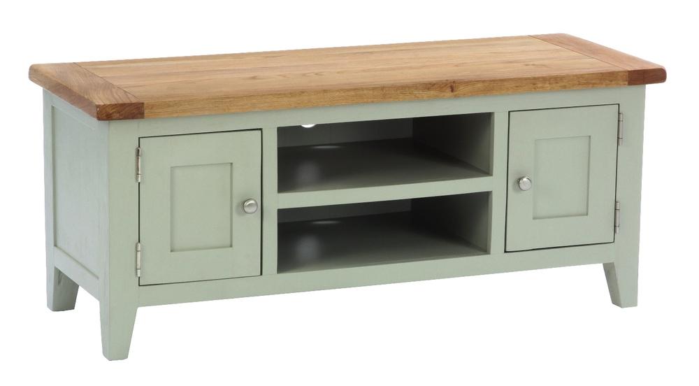 2 Door, 1 Shelf TV Unit Colour: French Grey w 120 x d 45 x h 50 cm €385 Product Code: ANB013