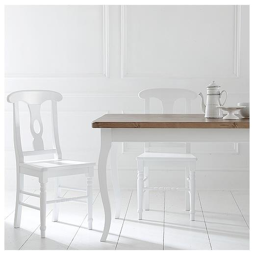 HERITAGE FRENCH LINE DINING TABLE - w 150 x d 90 x h 79 cm,     € 725 ( PRICE DROP NOW € 614 ), Product Code: FL-7004 HERITAGE TRADITIONAL LINE BEECH CHAIR - w 47 x d 41 x h 98 cm,  € 203 ( PRICE DROP NOW € 172 ), Product Code: TL-1141 These pieces may be ordered in any of the Heritage colours and finishes.