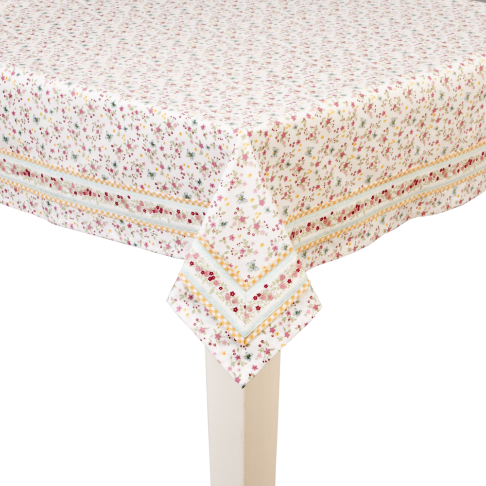 `Tablecloth ( Available in 3 sizes )   100x100cm  - €27   130x180cm -  €53   150x250cm  - €74