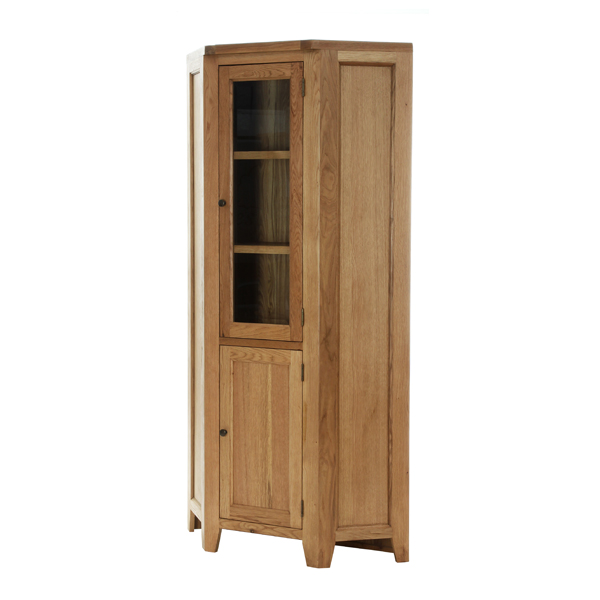 Corner Display Cabinet with 1 Panelled Door 1 Glazed Door €741 Product Code: NB096