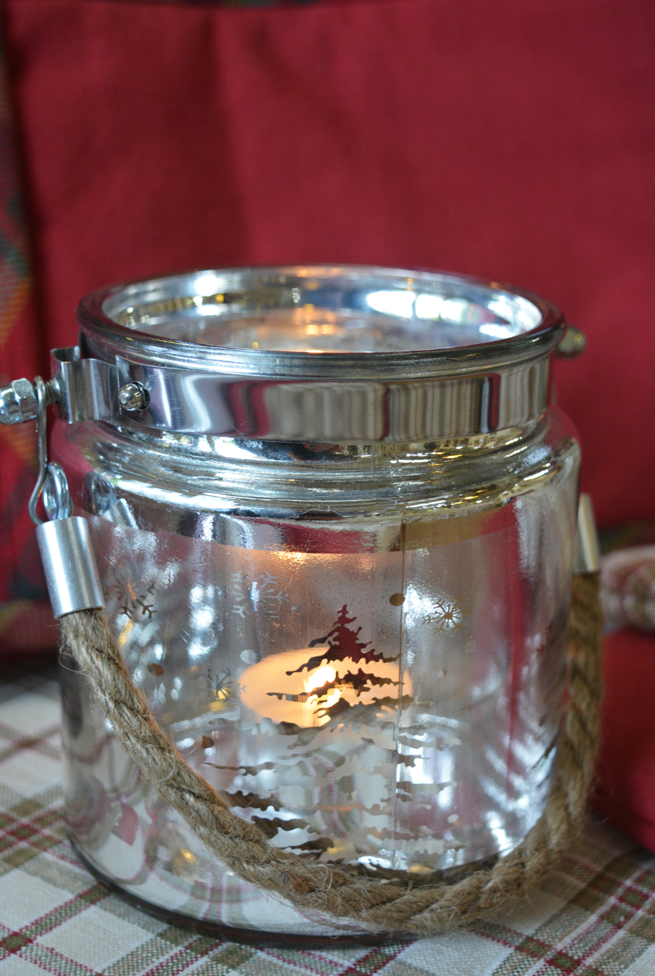 Tree and Reindeer Jar Candle Holder €7.50