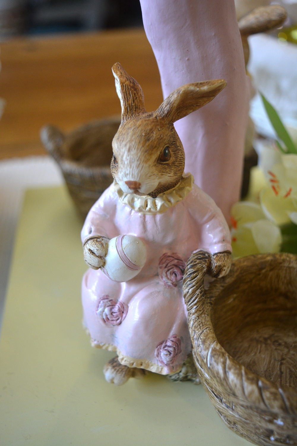 Pink Easter Bunny Ornament With Basket  €9.00
