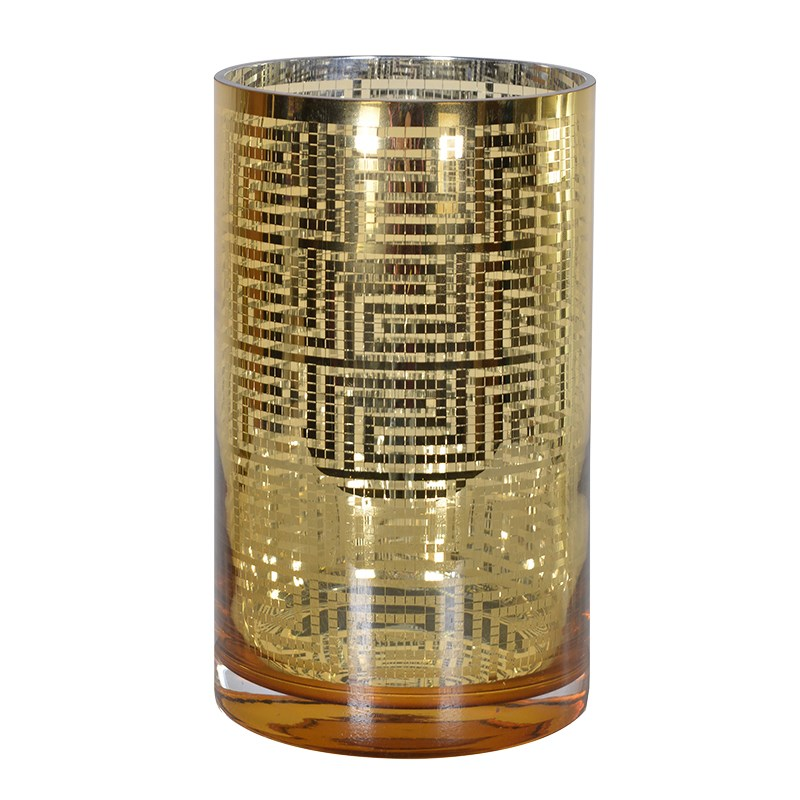 Gold Aztec Pattern T Light Holder €20.00 Product Code: CHA1-XLS-303