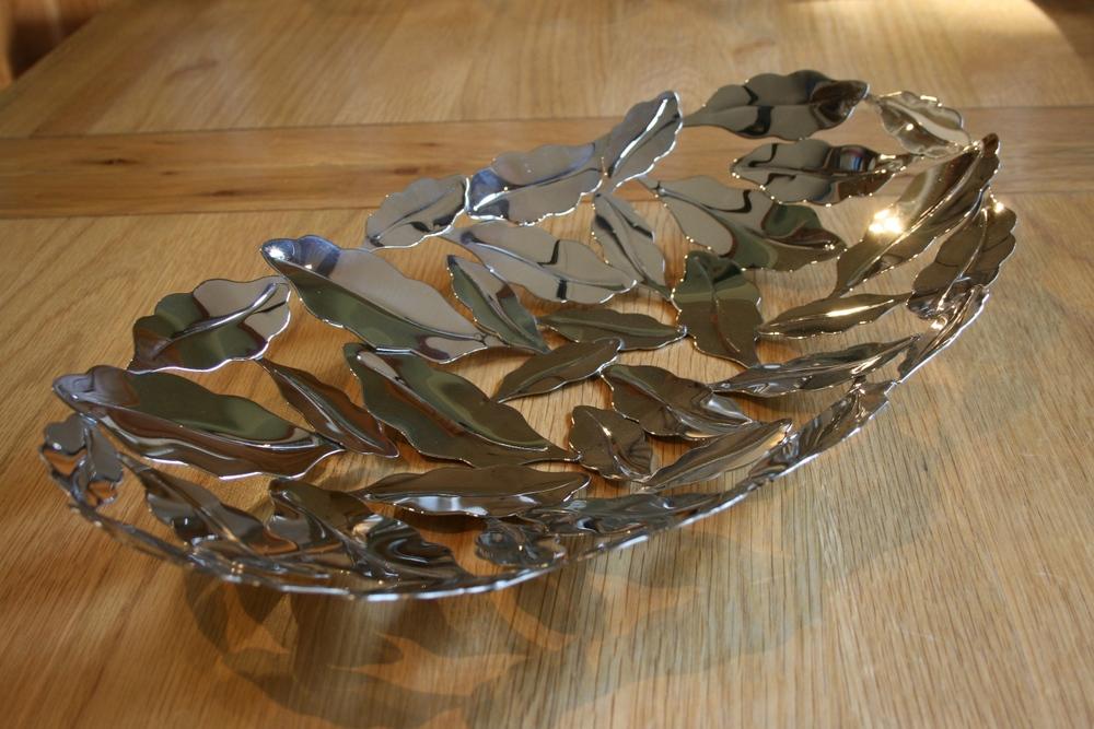 Stainless Steel Bay Leaf Display Bowl ~ €96.00