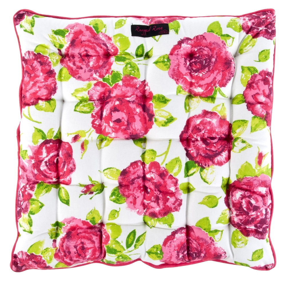 White & Rose Seat Pad Cushion ~ €21.50
