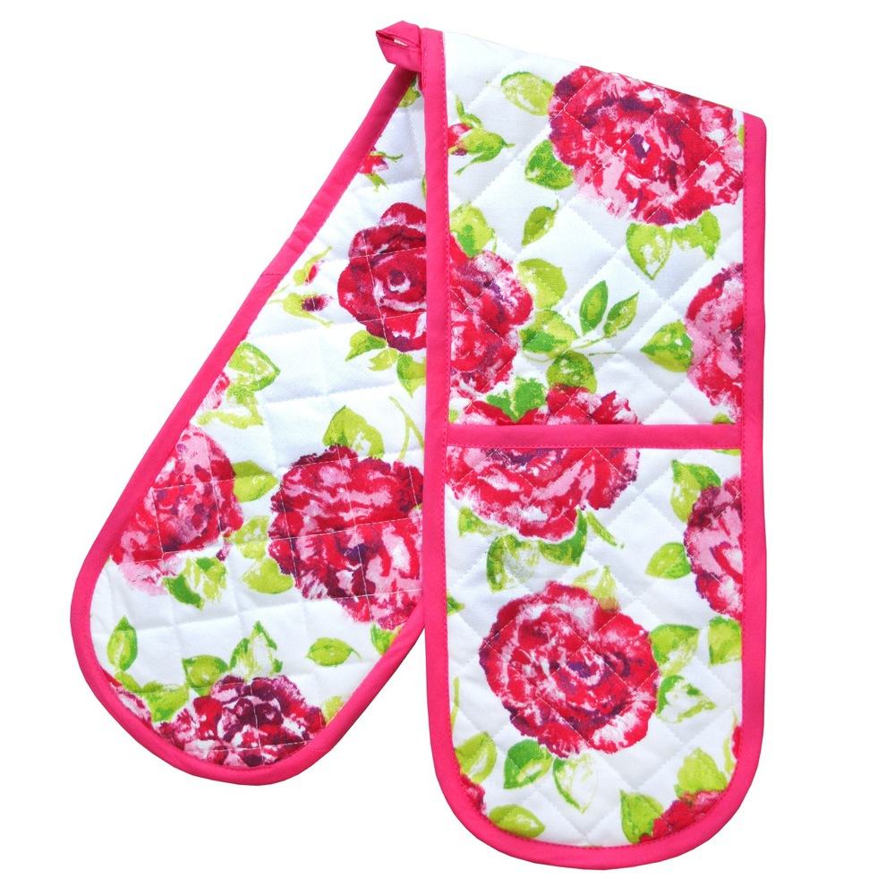 Rose & White Oven Mitt    ~ €21.50
