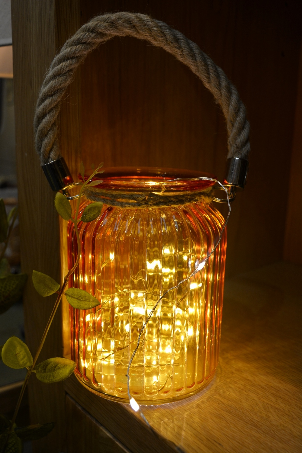 Glass Jar with Rope Handle €11.00