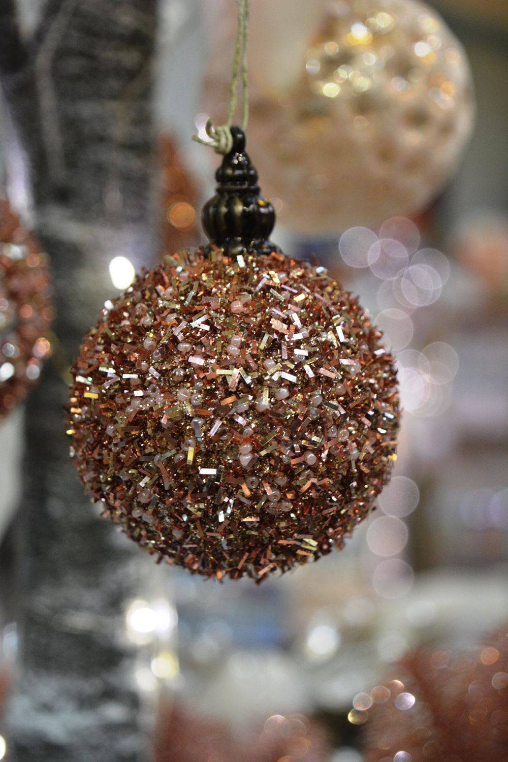 Glittering Pink Bauble - Small:€2.50 Large €4.20