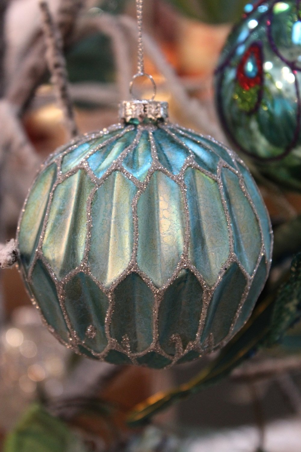 Aquamarine & Sparkle Bauble - €5.90