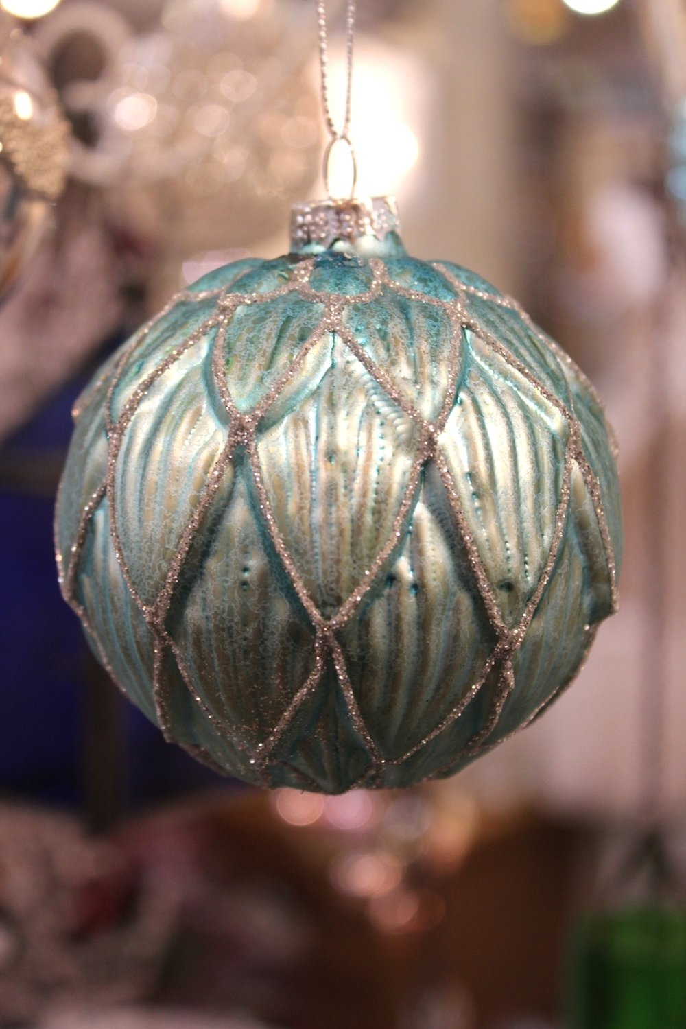 Aquamarine & Silver Sparkle Bauble - €5.90