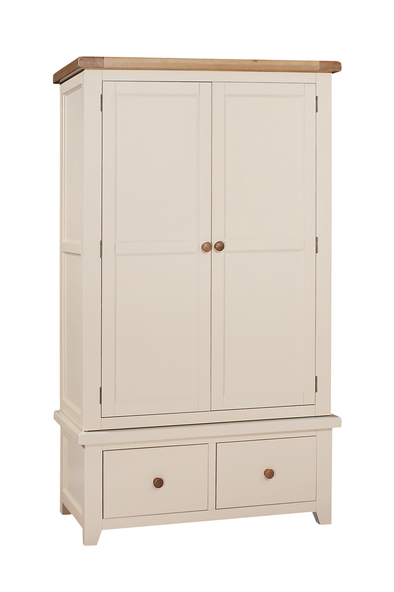JT029   Double Wardrobe with Drawers   W:1100 x D:600 x H:1900   €950. Available in Ivory Only