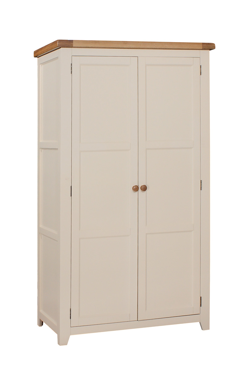 JT026   Double Wardrobe, Full Hanging   W:1100 x D:600 x H:1900    €785 Available in Ivory Only