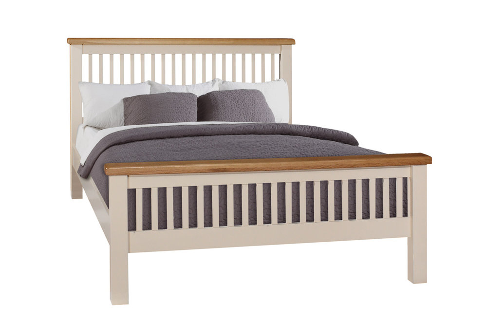 "JT016   4'6"" Bed   €495 Other Sizes: JT015   3' Bed    €485 JT013   5' Bed    €675 JT017   6' Bed    €740 Available in Ivory Only"