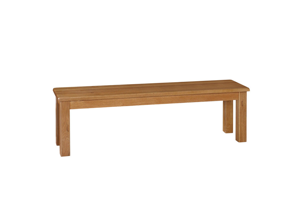 Benches:  Small Bench. Fits 1.3 and 1.5 metre tables.  W:1050 x D:380 x H450    €285                                                                       Product Code: OS044  Large Bench. Fits 1.8 and 2.1 metre tables.  W:1520 x D;380 x D:450 €347                                                                          Product Code: OS045