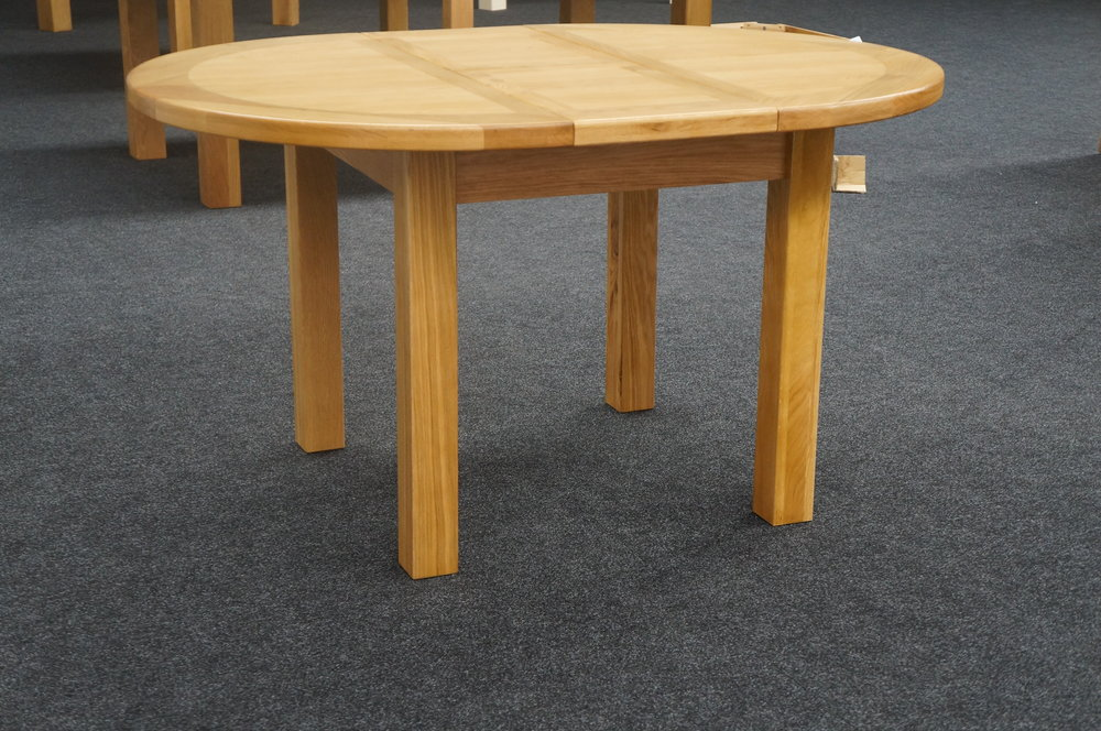 Round Extending Table                                                                             W:1100/1450 x D:1100 x H:780                                                                  €695                                                                                                           Product Code: €OS042