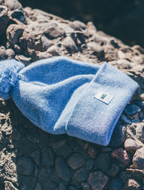 Coles Knit Hat in Sky Blue