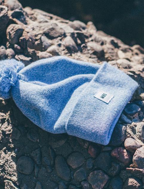 Coles Knit Hat in Sky Blue