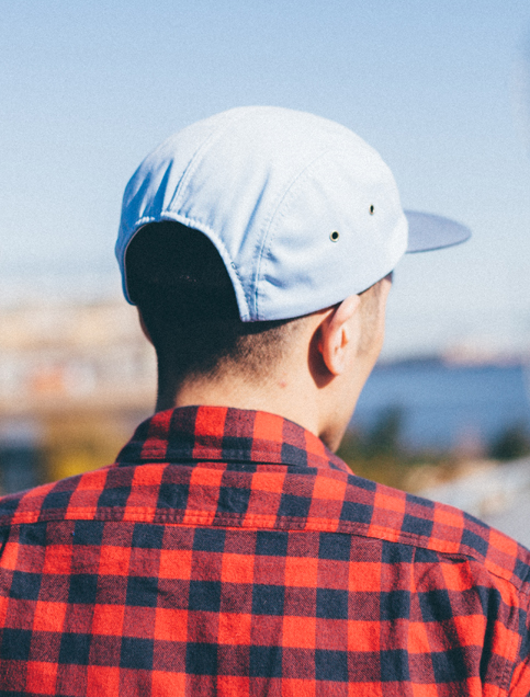 Alder 5-Panel Cap in Sky Blue & Slate